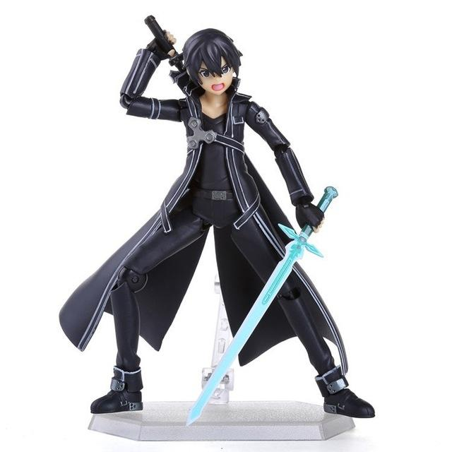 "Action 15cm Anime Sword Art Online SAO Kirito Figure PVC 6"" Collection Kirigaya Kazuto Movie Model Doll Best Gift Cosplay Toy"