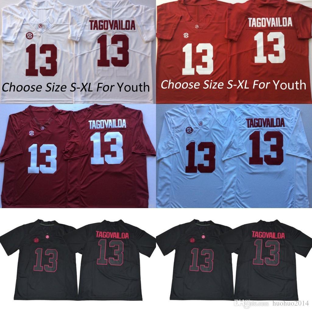 Alabama Crimson Tide Men Youth Kids 13 Tua Tagovailoa Joe Namath AJ ... 89e08de3b