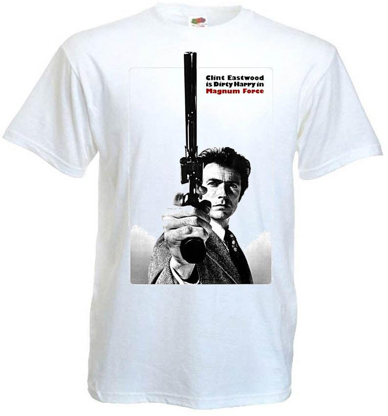 51f143093 Magnum Force V2 T Shirt Clint Eastwood 100% Cotton White All Sizes S 5XL  Funny Unisex Casual Tshirt Top Unique T Shirts For Sale Design 1 T Shirt  From ...