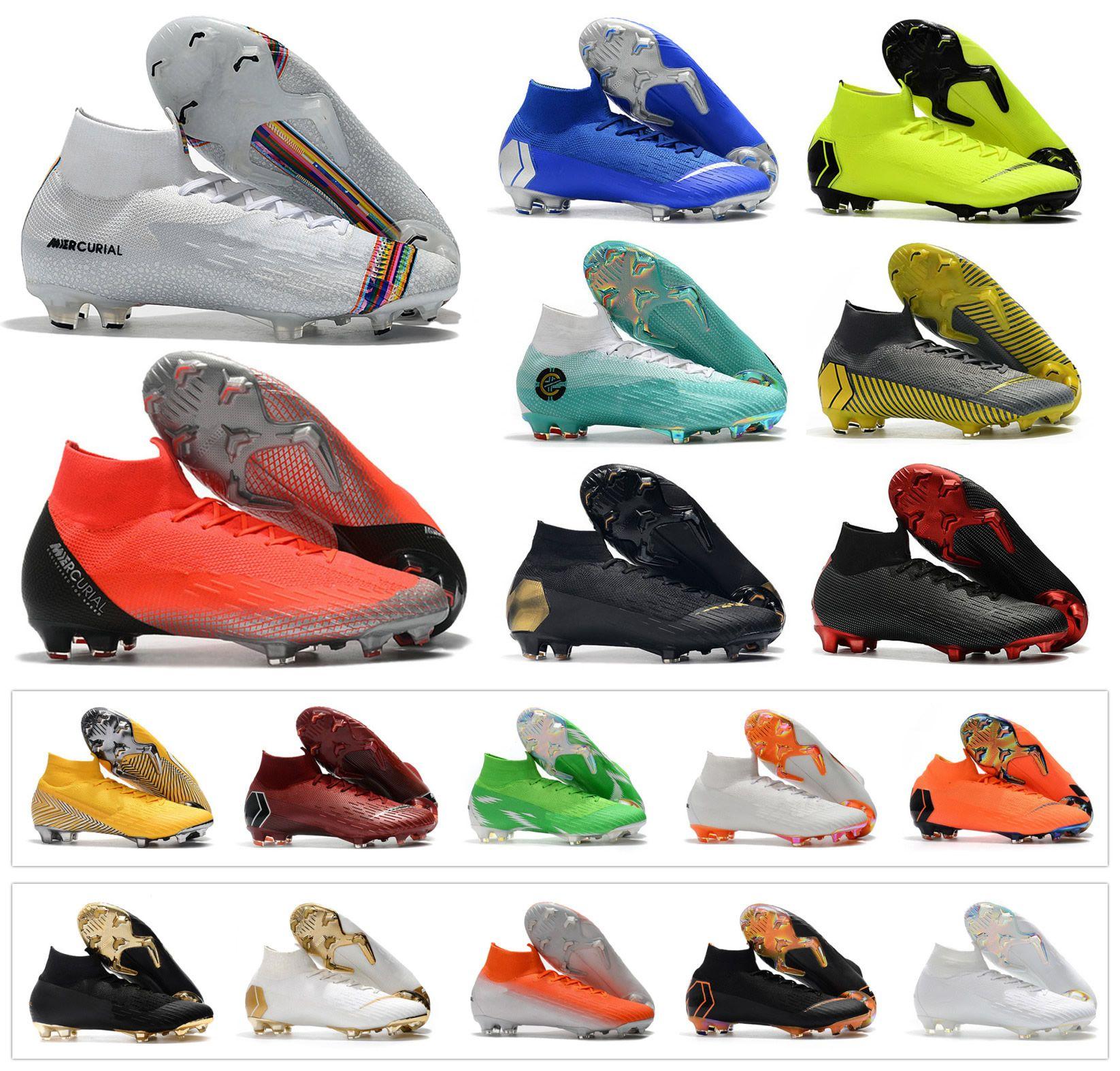 a4deb9f48 2019 2019 Mercurial Superfly VI 360 Elite FG KJ 6 XII 12 CR7 Ronaldo Neymar  Mens Women Boys Soccer Shoes Football Boots Cleats Size US 3 11 From  Themaxshoes ...