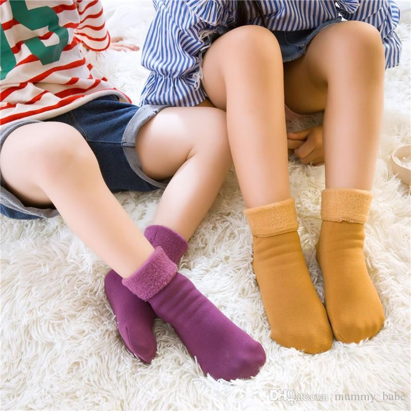 f0a251a0939 Compre 1 Par Invierno Más Terciopelo Engrosamiento Niños Calcetines  Térmicos Niños Niños Bebés Niñas Niños Calcetines De Piso Para 4 8 Años De  Edad A  3.8 ...