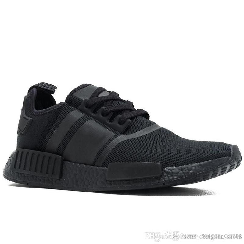 d7703b1cf NMD R1 Primeknit Runner Running Shoes Classic Triple Black White Red ...