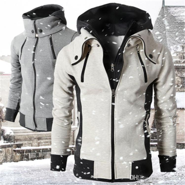 Herbst-Winter-Bomberjacke Mens neue beiläufige Outwear Windjacke Mäntel Male Fashion College-Zipper-Jacke Hommes Hoodies