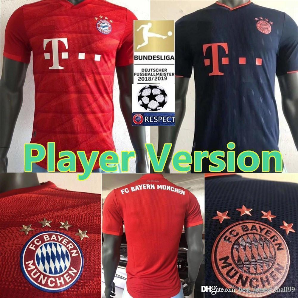 2019 2020 FC Bayern Munich Player Version MULLER Home Soccer Jersey 19 20 3rd #11 JAMES Soccer Shirt LEWANDOWSKI Football uniform