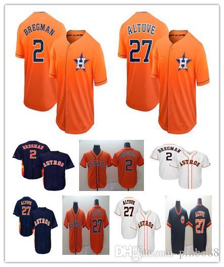 hot sale online dcba3 b2d6c 2019 Men s HoustonAstros Retro Baseball jersey 2 Alex Bregman 27 Jose  Altuve Baseball Jersey Flex Cool Base Retro Mesh