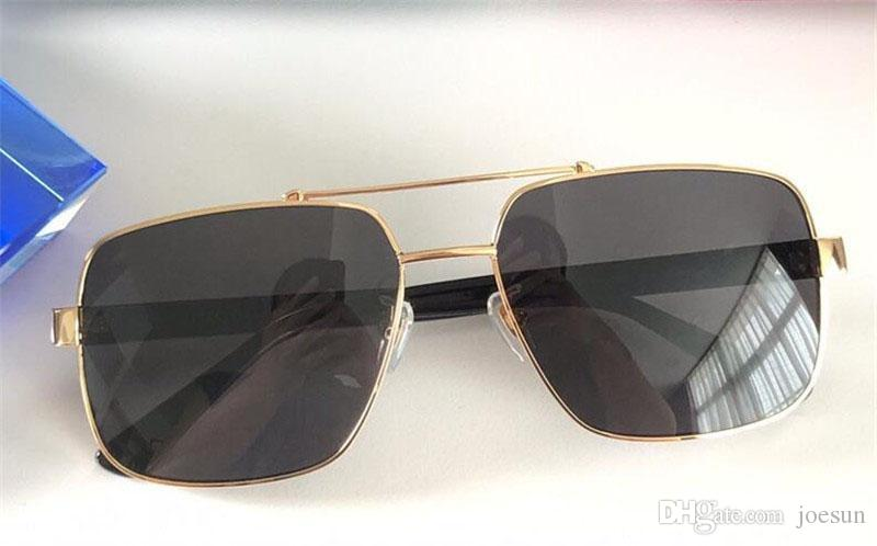 new fashion classic sunglasses attitude sunglasses gold frame square metal frame leather legs vintage style outdoor design model 0529