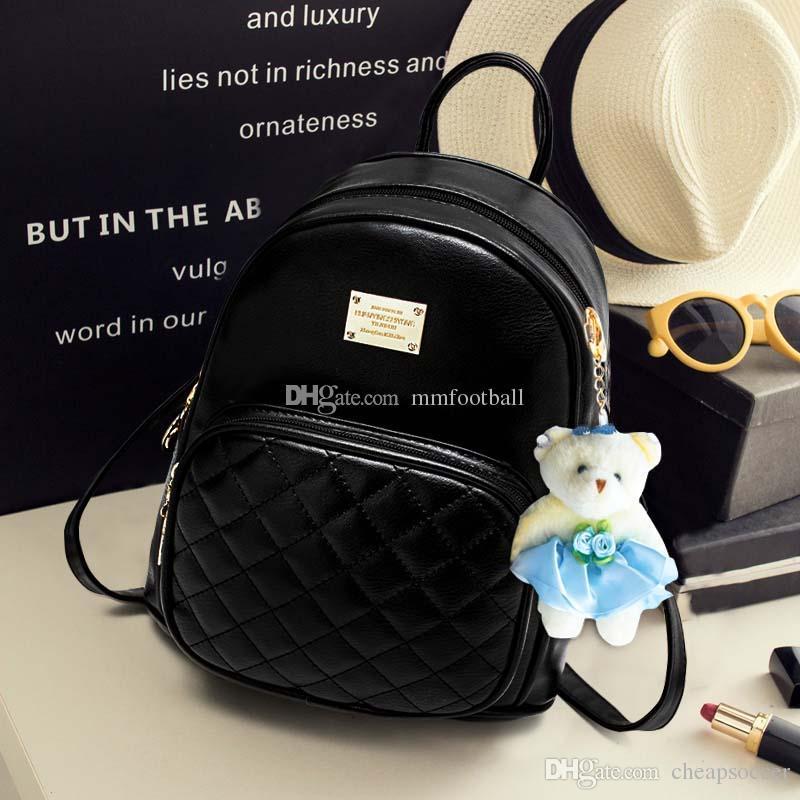 e68b9c87b24b Fashion Wobag Backpacks Woman Mini PU Leather Backpack Style Female ...