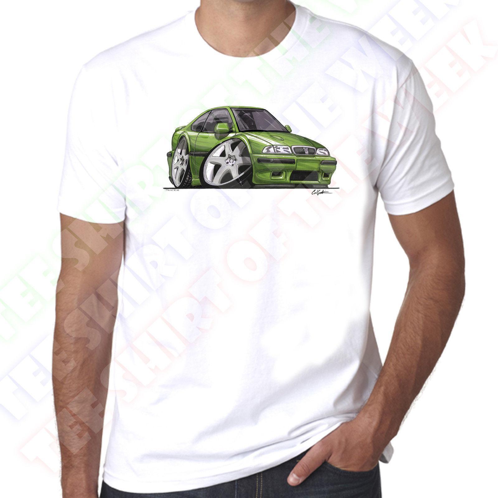 a5268bde WickedArtz Cartoon Car Green Rover 220 Coupe Mens 100% Cotton White T Shirt  2018 Hot Summer Casual T Tees Print Rude T Shirt Shirt With T Shirt From ...