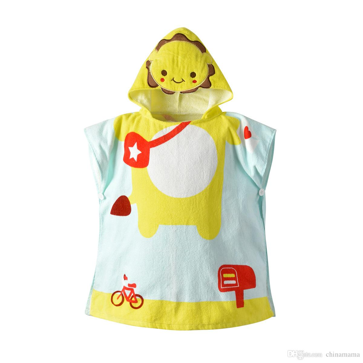 060bdcfc7cd Compre Batas De Algodón Para Bebés Albornoz Niños Pijamas De Dibujos  Animados Con Capucha Batas Para Bebés Niños Y Niñas Pijamas Engrosamiento  Servicio A ...