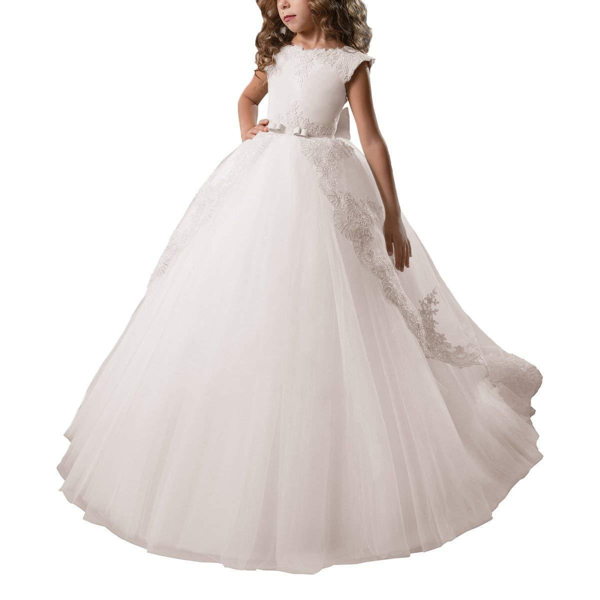c8b1adab693 White Flower Girl Dresses With Burgundy Sash