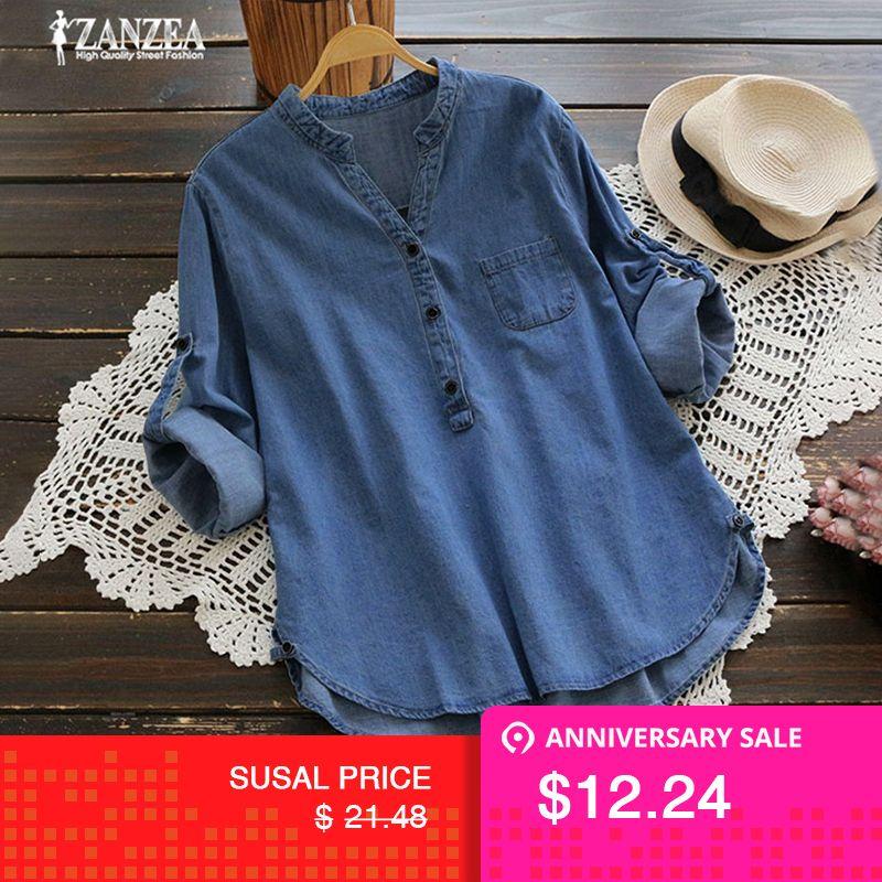 Objective 2019 Summer Tops Women V Neck Short Sleeve Loose Casual Solid Shirt Elegant Ladies Cotton Linen Blouse Top Blusas Plus Size Women's Clothing