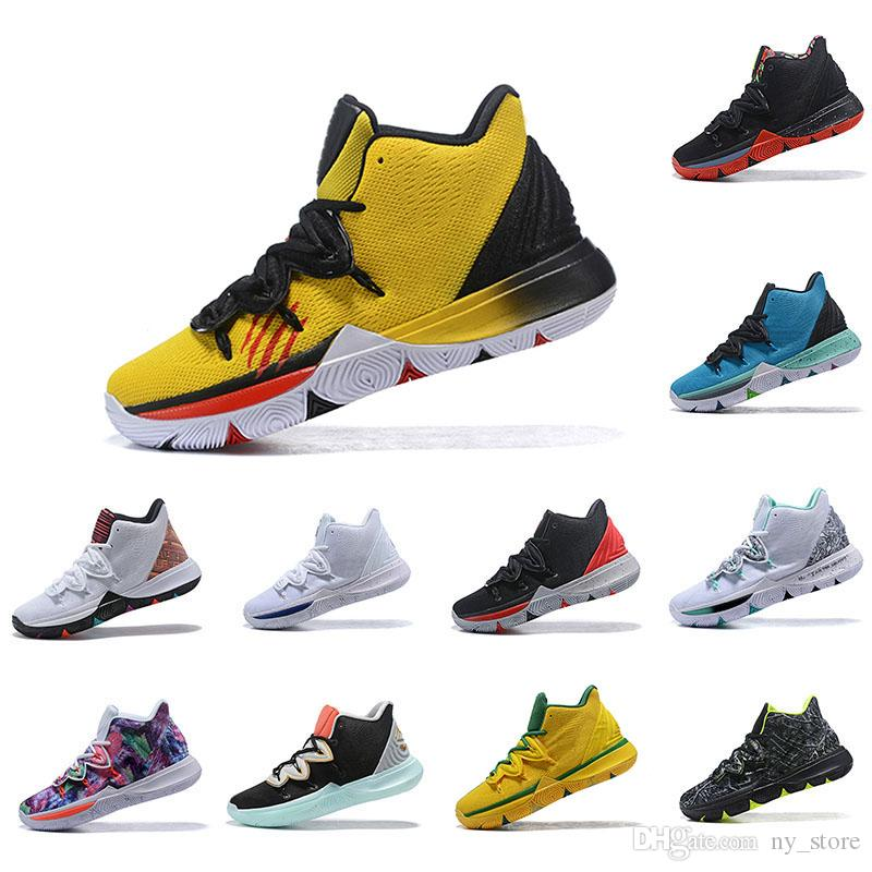 5cbc55fc4cc8 Irving 2019 Limited 5 Men Basketball Shoes 5s Black Magic For Kyrie  Chaussures De Basket Ball Mens Trainers Sneakers Zapatillas 40 46 Online  Shoe Shopping ...