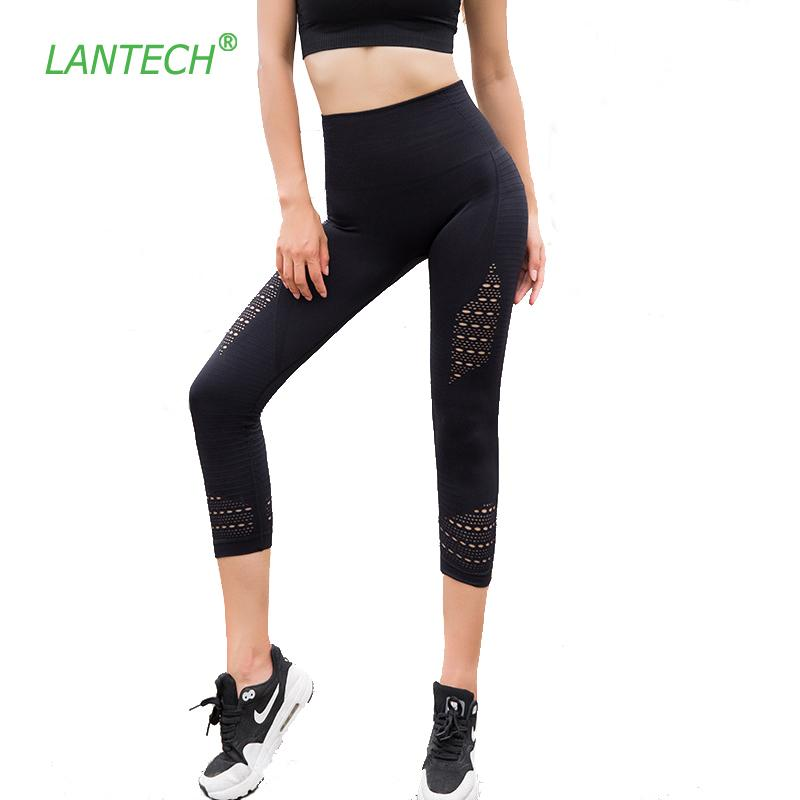 f4dcf985f14ad 2019 Lantech Yoga Leggings Sports Capri Pants Running Sportswear Stretchy  Fitness Hips Push Up Seamless Gym Compression Tights Women C19041702 From  Xiao0002 ...