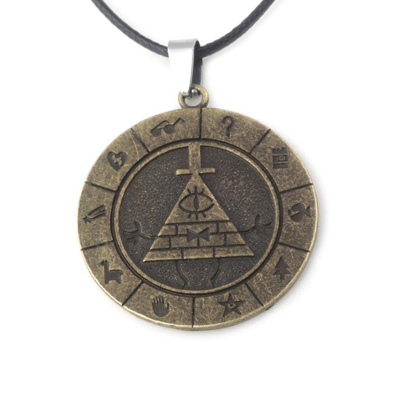 Gravity Falls Necklace Ancient Bronze Gravity Falls Bill Cipher Necklace  Pendants Fashion Jewelry Drop Shipping