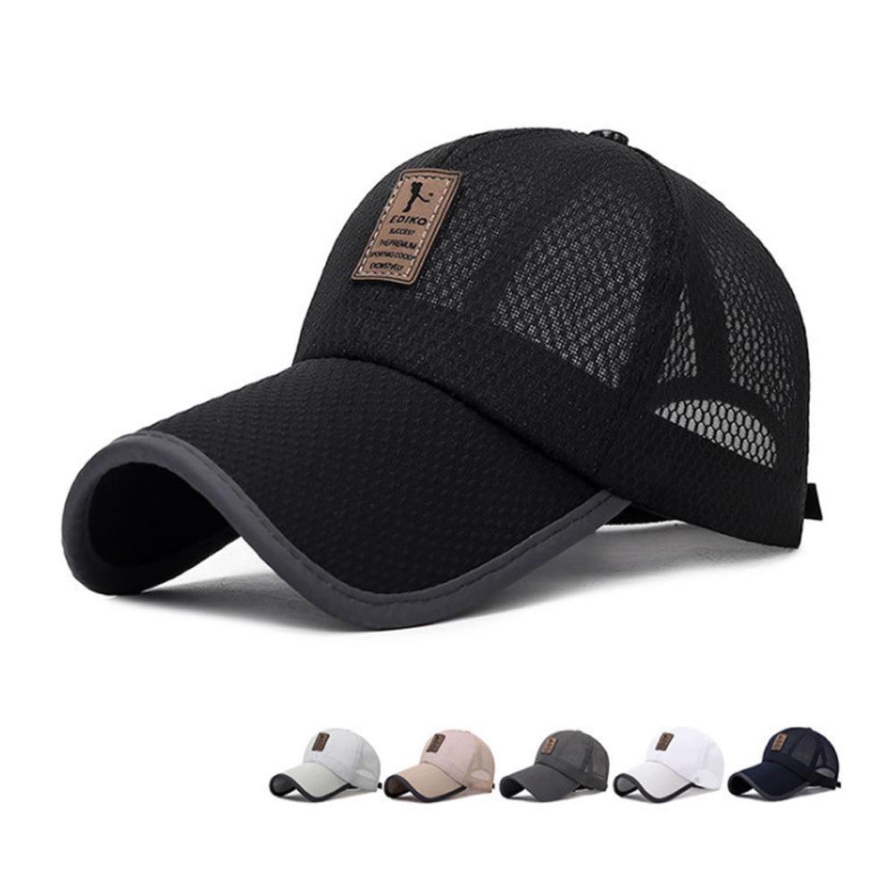 1b762b02 Unisex Solid Casual Summer Mesh Hats Men Snapback Mesh Baseball Caps  Casquette Bone Gorras Hot Sale Cheap Brand Baseball Caps Big Hats Hat  Stores From ...