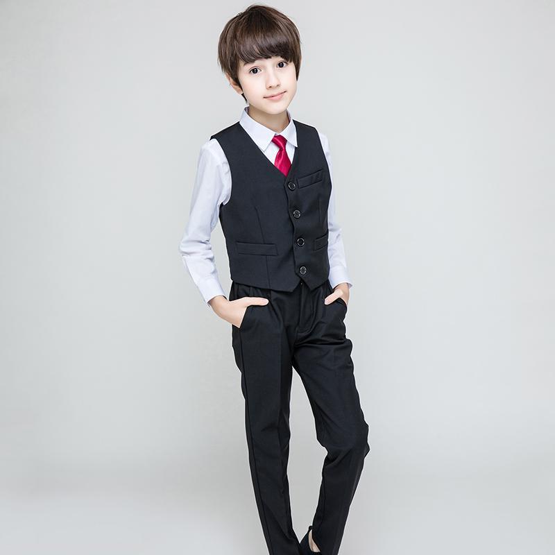 ef319ebb2 Compre Conjuntos De Niños Para Niños Trajes De Vestir De Esmoquin Formal  Conjuntos De Escardas De Niños Camisas Chaleco Pantalones 3 Unids Disfraces  Regalo ...