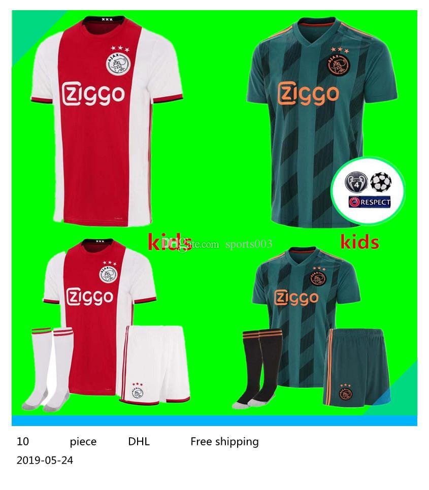 43d7d11a1f Compre Nova 2019 2020 Casa Ajax Fora Camisas De Futebol 19 20 Ajax Soccer  Shirt 2019 # 10 TADIC # 34 NOURI # 25 DOLBERG Uniforme De Futebol De  Sports003, ...