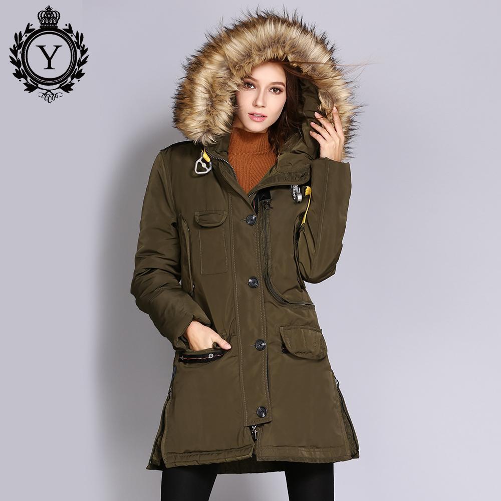2ecfcbd63a0 2019 2018 Women Thick Winter Jacket Big Faux Fur Hooded Warm Parka Coats  Female Windbreaker Jacket Overcoat Long Women S Parkas From Johnnyyan