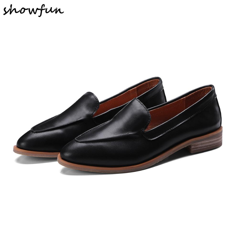 b1da5823562 Plus Size 34 43 Women S Loafers Genuine Leather Slip On Flats Loafers Brand  Designer Leisure Ballerinas Comfort Shoes Red Shoes Footwear From  Shoes8800