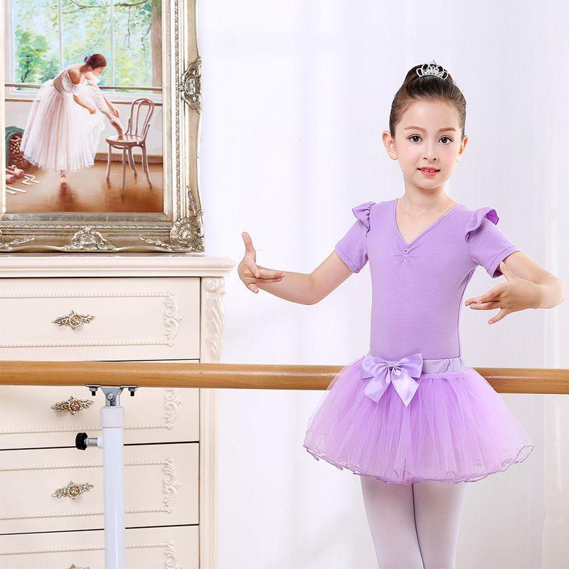 1f7e8e8f94119 2019 Boutique Dance Shoes Print Girl Leotard Ballet Dance Performance Wear  Costume Stage Short Sleeve Ballet Skirt Child Tutu Dancewear Skate From  Casey_no1 ...