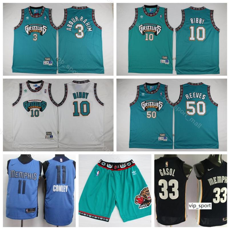 22d6199d7c3 2019 Memphis Basketball Grizzlies Michael Mike Bibby Jersey Short Shareef  Abdur Rahim Bryant Reeves Mike Conley Marc Gasol Shirts Uniform From  Vip sport