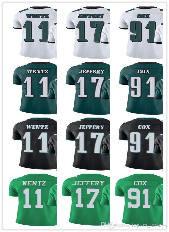 110fa7f2 Philadelphia Men Women Youth Eagles Jersey #11 Carson Wentz 17 Alshon  Jeffery 91 Fletcher Cox Vapor Limited Jerseys