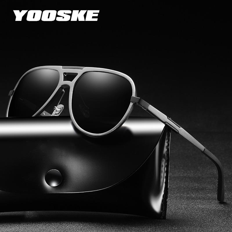 635acb76395 YOOSKE Men Polarized Sunglasses Aluminum Magnesium Sun Glasses ...