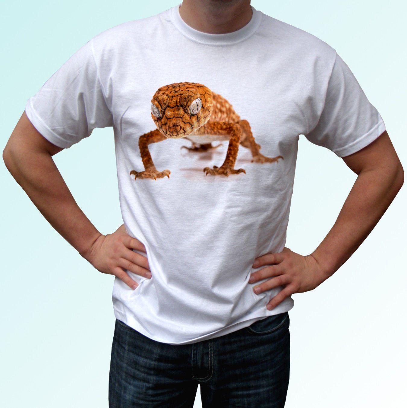 c94cc317 Gecko White T Shirt Lizard Animal Tee Top Design - Mens Womens Kids Baby  Cool Casual Pride T Shirt Men Unisex New Fashion