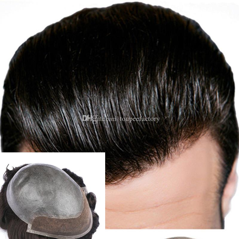 3ae3ea03a1 2019 Lace Front Men Toupee Pu Men S Toupee Lace Front With Pu Men S Wig  High Quality Men S Wig Durable Remy Hair Systems From Toupeefactory