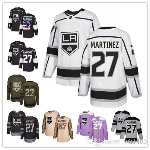 online store 8b363 70cfb LA Los Angeles King jerseys #27 Alec Martinez Jersey hockey men women youth  black home white away Premier gray Alternate stitched Jerseys