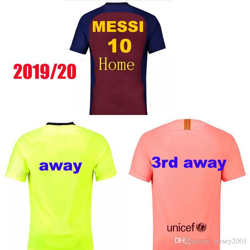 f0135f0b145cbc 2019 20 home away Messi COUTINHO INIESTA O.DEMBELE PIQUE SUAREZ Camisolas  de Futebol em casa Camisola do Barcelona PAULINHO camisa de futebol
