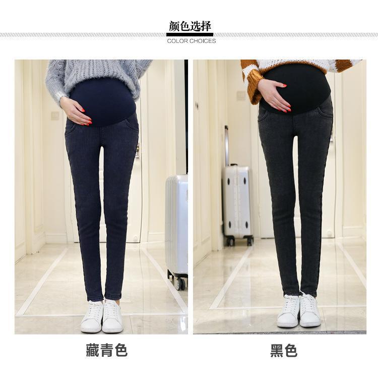 973b88c365a 2018Hot Warm Thick Pregnancy Denim Pants Winter Fleece Maternity Jeans for Pregnant  Women Plus Velvet Maternity Clothing SIZE3XL Jeans Cheap Jeans 2018Hot ...