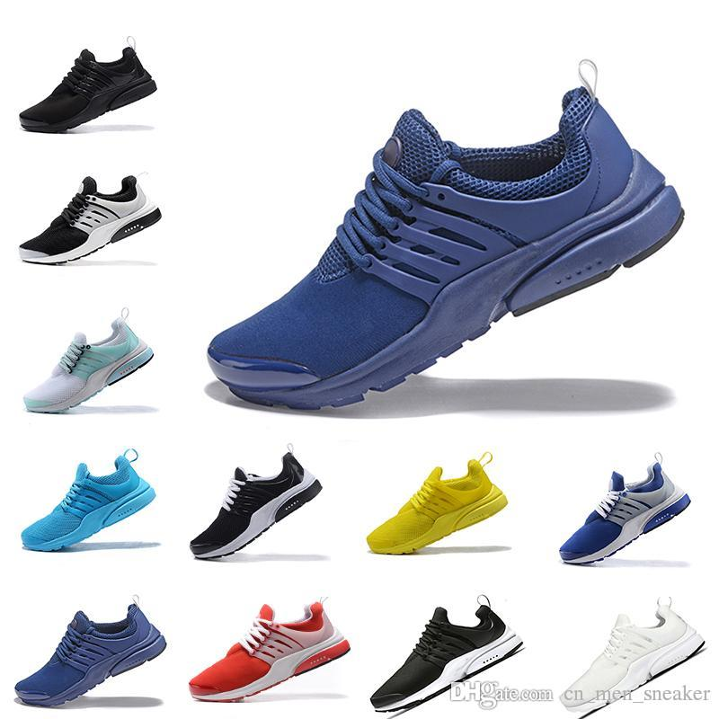finest selection a73ea 2e4d2 NEW 2018 Top quality Presto 5 BR QS All Yellow White Blue Running Shoes Men  Women Prestos Casual Walking Fashion Sneakers Size 36-45