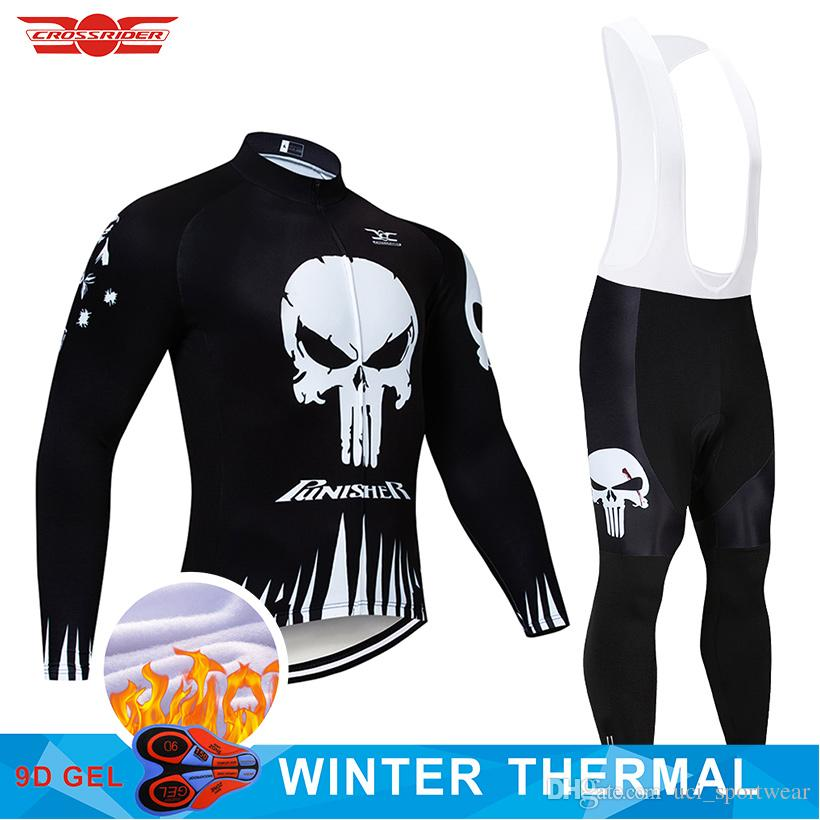 8a3342f75 2019 PUNISHER Winter Cycling Jersey 9D Pants Set MTB Bicycle Clothing Ropa  Ciclismo Thermal Fleece Bike Jacket Mens Cycling Wear Cycling Pants Cycle  Shorts ...