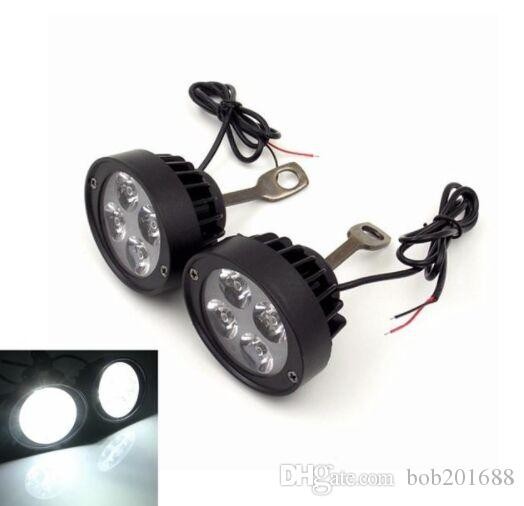 Par 12V Motocicleta Superligera Impermeable LED Faros delanteros Retrovisor Luces retrovisores Spot Lightt Assist Lamp