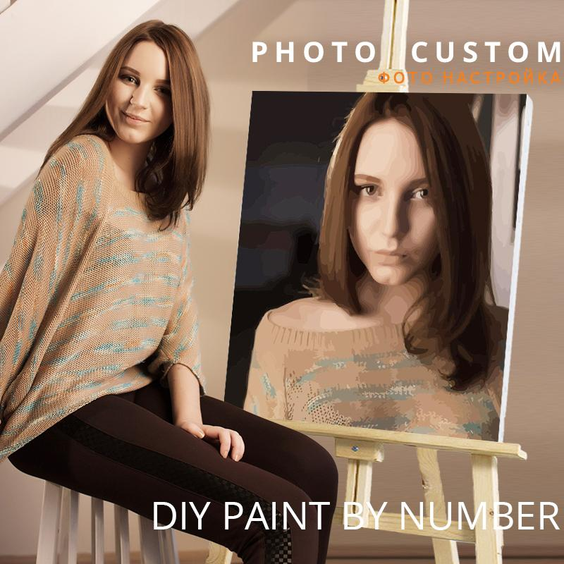 ainting & Calligraphy CHENISTORY Photo Custom Diy Painting Personality Picture Customized Paint By Numbers Gift Acrylic Coloring By...