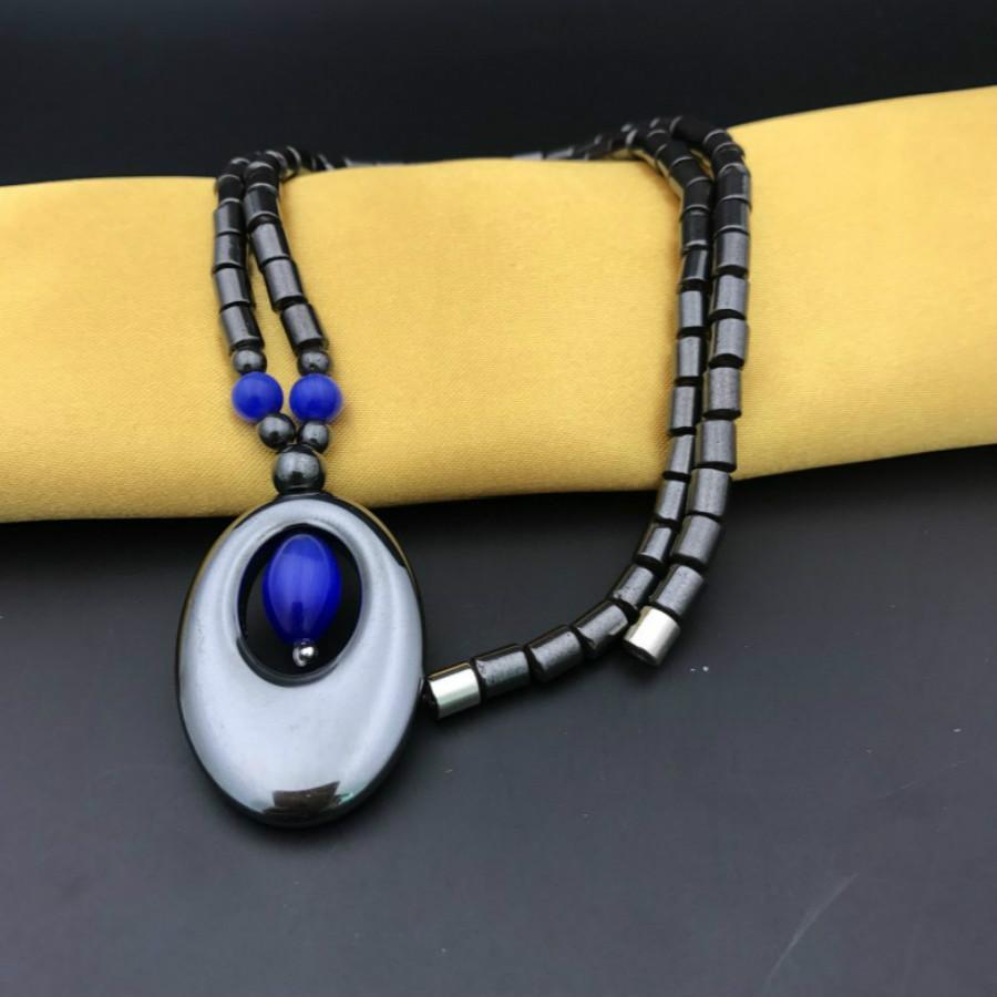 1 Stücke Verkaufen Charme Armbänder Schwarz, Die Alte Weisen Stil Neues Design Männer Armband Stein Magnetische Natürliche Schwarze Handketten