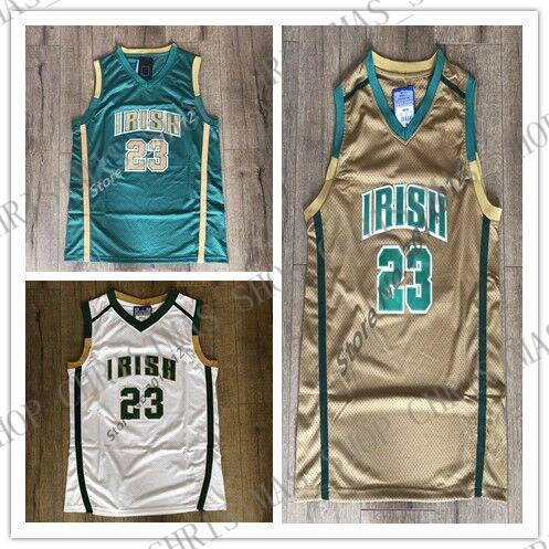 innovative design 67f1f 6f902 Mens #23 LeBron James St. Vincent St. Mary Irish High School Basketball  Jersey Personalized custom any name number XS-5XL