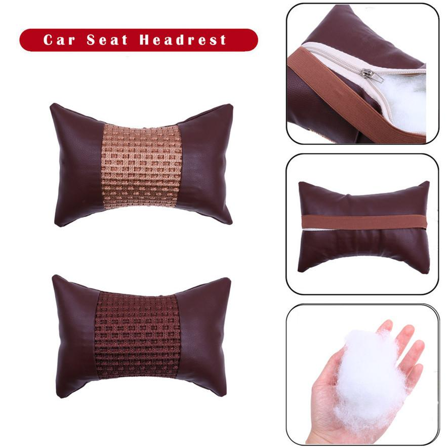 Ice Silk Car Seat Head Neck Rest Cushion Headrest Memory Foam Contour Pillow Accessories Practical Durable High Quality l0425