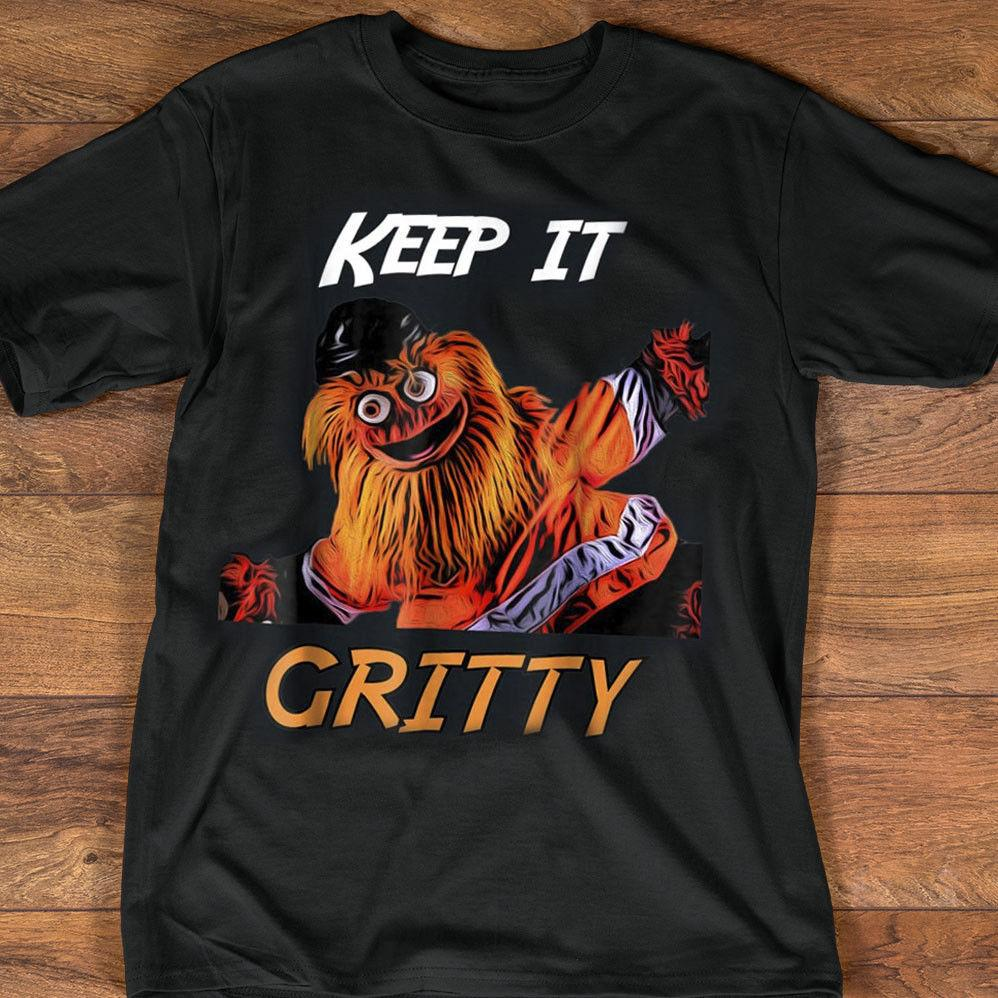 Keep It Gritty Philly Flyers Hockey Mascot Shirt Black Cotton Men T Shirt M  3XL Cool Casual Pride T Shirt Men Unisex Cool Funny T Shirts On T Shirt  From ... 856baa9a8