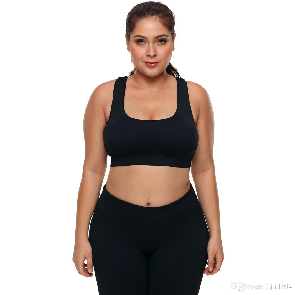 Sports Bras Plus Size Gym Workout Fitness Clothing U-Collar Sleeveles Womens Undrewear H Back Short Crop Top Yoga Vest Bra