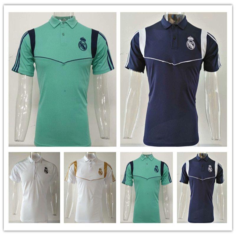 Thai 19 20 real madrid POLO Shirt Ronaldo soccer kit 2019 2020 real madrid  soccer jerseys KROOS ASENSIO training jersey