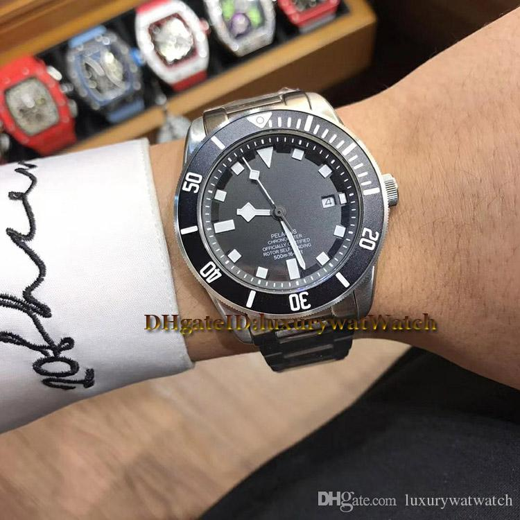 Brand New Cheap 3 Style 42mm 25600TN Steel Case Black Dial Japan Miyota 8215 Automatic Mens Watch PELAGOS 25600TB Sports Watches TOP Quality