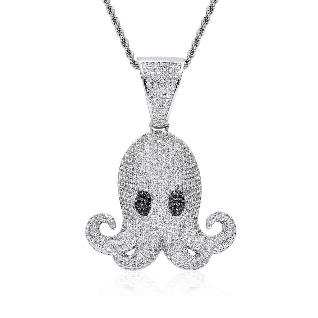 Wholesale Silver Hip Hop Octopus Animal Pendant Necklace Hip Hop Zircon  Pendant Necklace For Men Women Unisex Hiphop Jewelry Factory Wholesale  Silver Charms ... e14b5ead6
