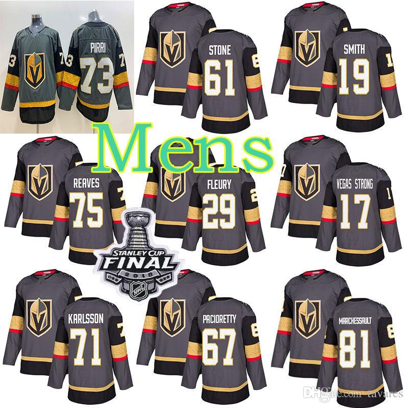 wholesale dealer 280a8 11a2a Vegas Golden Knights Jersey 29 Marc-Andre Fleury 67 Max Pacioretty 58 Vegas  strong Hockey Men Women Youth 2018 Stanley Cup Finals jerseys