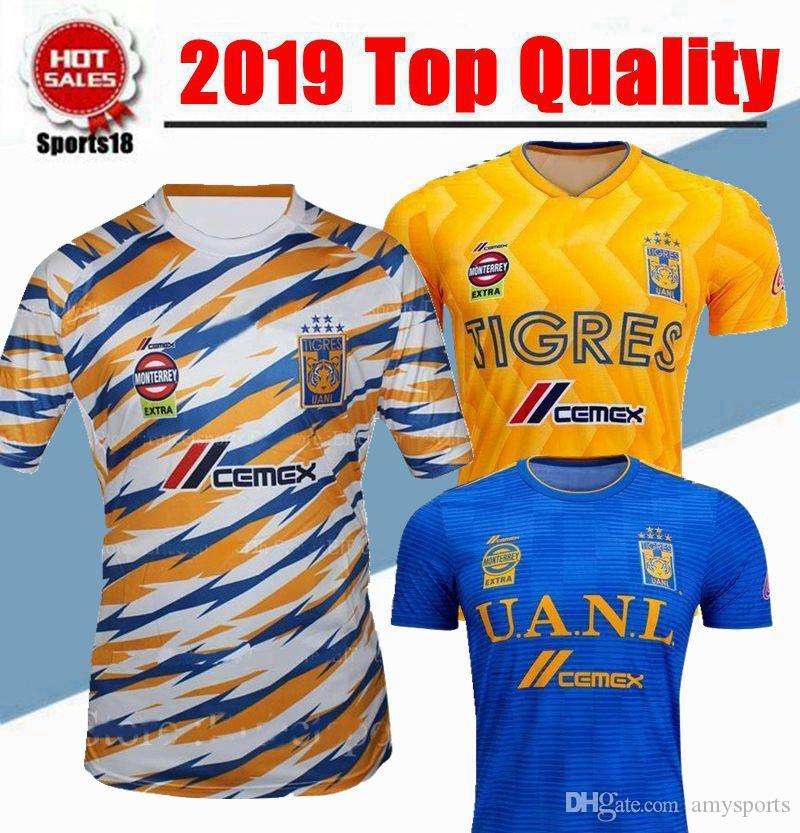 b17136701 2019 GIGNAC Mexico Club Tigres UANL Yellow Home Third 3RD Soccer ...
