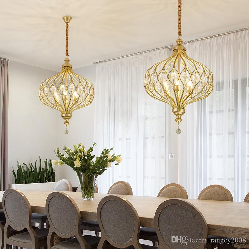 small round gold crystal led modern chandelier lighting