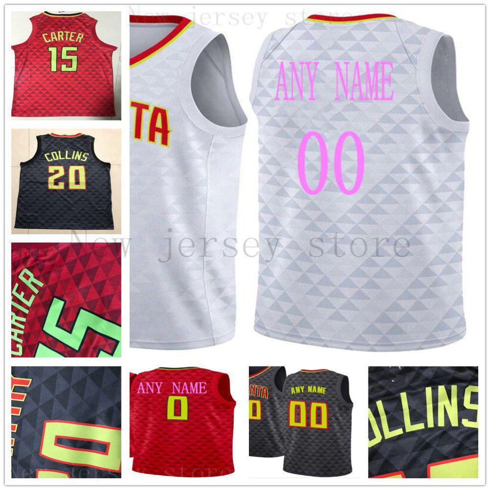 premium selection fffb5 199ab Custom Printed Atlanta 25 Alex Len 12 Taurean Prince 1 Justin Anderson 20  John Collins 3 Kevin Huerter 8 Sibert Hawks Basketball Jerseys