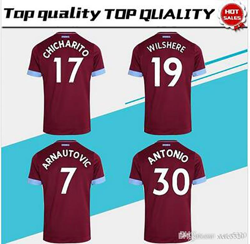 f18342a06 2019 Home Soccer Jersey 2018 19 Soccer Shirt 18 19  17 CHICHARITO  19  WILSHERE Football Uniform Jeresys From Xctc5320