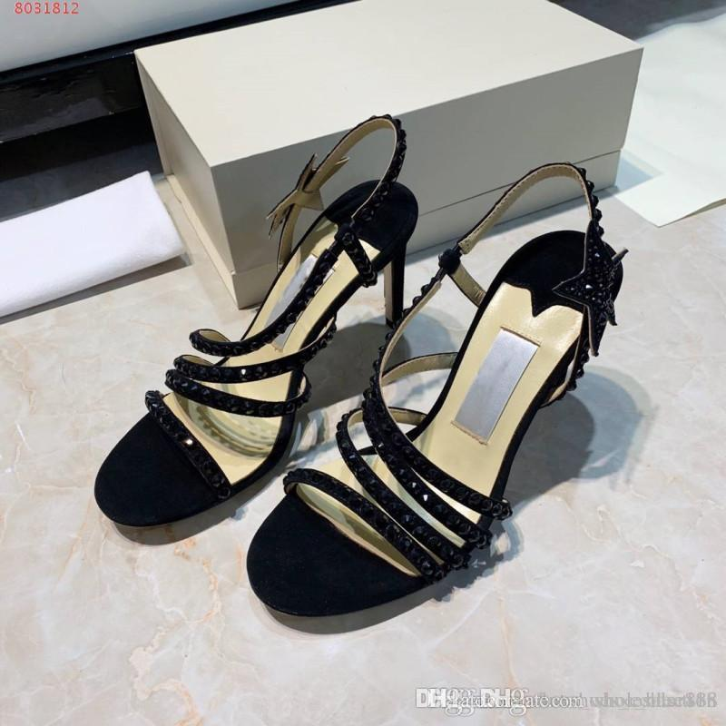 f742a7b94f Women High Heels Dressing Shoes,Stylish high-heeled sandals with  rhinestones and stars,Size 34-39,heel-height 8.5 cm
